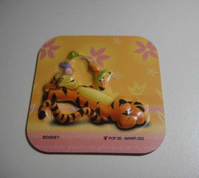 《庫存出清》全新迪士尼正版授權POOH小熊維尼立體磁鐵~跳跳虎款