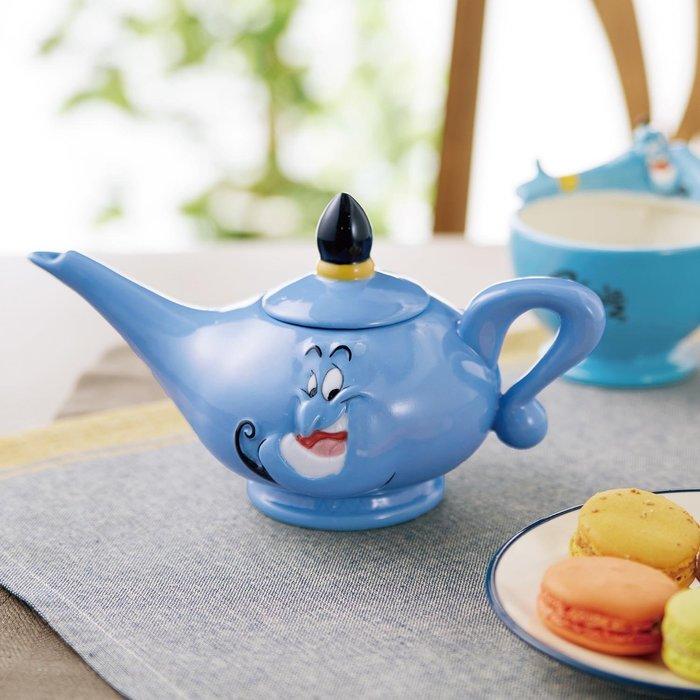 迪士尼Disney《現貨》阿拉丁 神燈精靈 立體瓷器神燈茶壺~日本正品~心心小舖