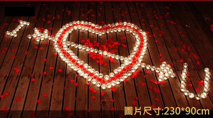 排字 求婚 表白 情人節 蠟燭套餐 豪華 I ♥ U 一箭穿心 三款式 求婚蠟燭 情人節 42號【P11002401】
