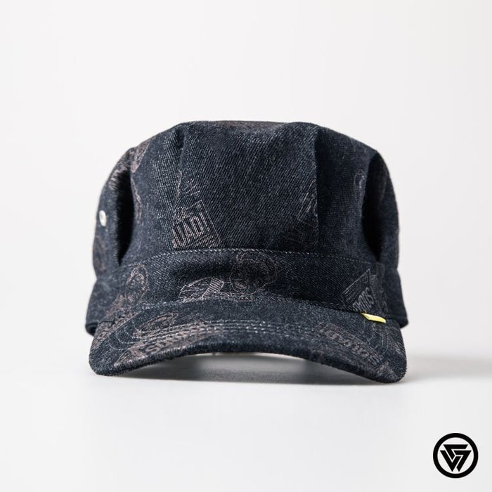 SQUAD 2015 F/W Denim Printing newsboy hat 單寧印花報童帽 黑色