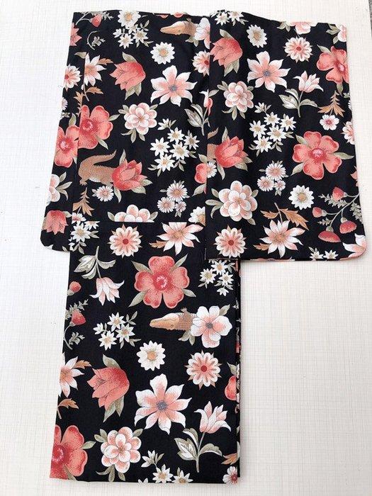 01日本 全棉和服浴衣 鱷魚和花朵