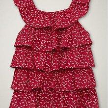 【B& G童裝】正品美國進口GAP Patriotic ruffle top小花圖樣紅色裙襬式背心上衣2yrs