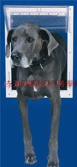 【皮蛋媽的私房貨】美國Ideal Deluxe 大型犬.中型犬用金屬鋁製狗門 活動門 (2段式開關)現貨!