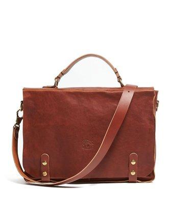義大利精品 IL Bisonte Cowhide Briefcase in Brown 野牛皮 側背包