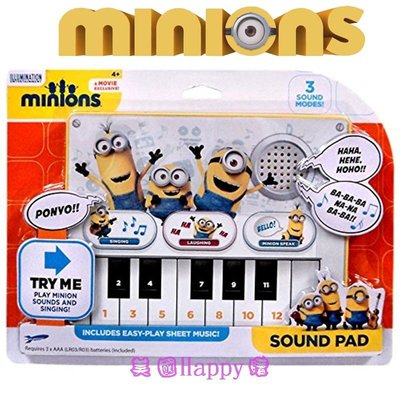 現貨1件☆ ╮美國Happy購╭☆Despicable Me 神偷奶爸 小小兵 聲效鍵盤鋼琴 唱歌 笑聲 說話
