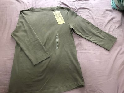 Muji brand new middle sleeve T-shirt
