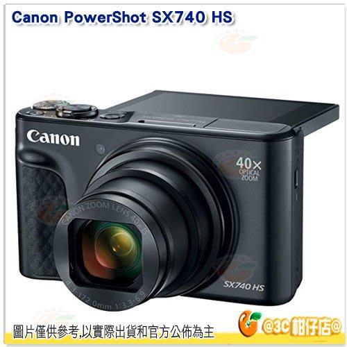 送64G+副電+座充等8好禮 Canon PowerShot SX740 HS 黑 平輸繁中 一年保 4K 40倍光學
