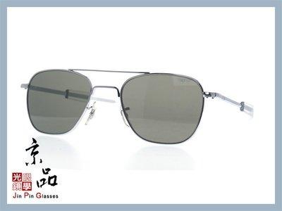 【美國AO】飛官太陽眼鏡 OP 52mm S.BA.TC 銀/透明色框 灰色玻璃鏡片 公司貨 JPG 京品眼鏡
