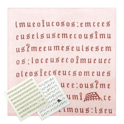 《Life M》【各式方巾】雙星Gemini系列-SG336K 單色符號小方巾 W3363