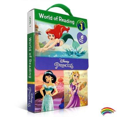 進口英文原版繪本World of Reading Level 1 Disney Princess迪士尼公主系列cindeiella灰姑娘等6冊盒裝兒童啟蒙書