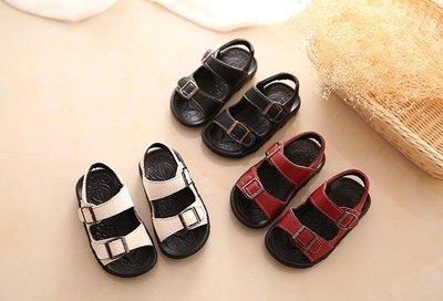 涼鞋胖腳寶寶涼鞋男1-2-3歲夏季軟底防滑皮質男童涼鞋新品正韓潮