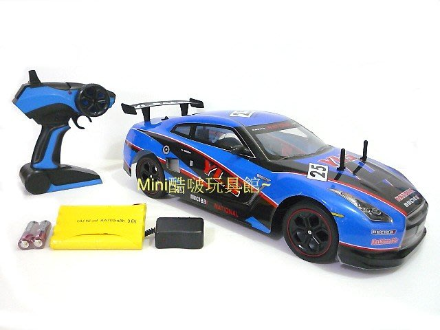 最新2.4G版 充電全配1/10 充電遙控車-跑車-GTR35外型