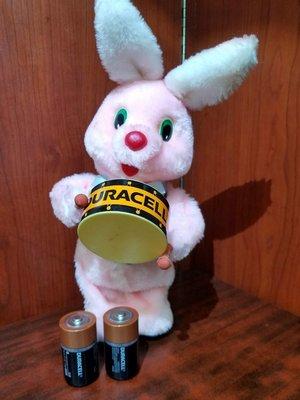 金霸王打鼓兔 金霸王賓尼兔,金霸王電池兔,金霸王電芯( Duracell電兔,功能正常,韓國制造 老香港懷舊玩具