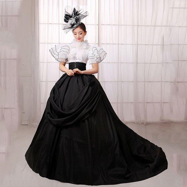 5Cgo【鴿樓】會員有優惠  533120396045 歐式宮廷裝禮服表演服裝皇後服裝舞台裝演出服主題服裝女演出服裝+裙