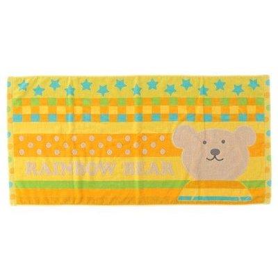尼德斯Nydus 日本正版 Rainbow Bear 彩虹熊 100%綿 毛巾 浴巾 日本製 60×120cm 預購