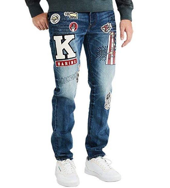 AE x Keith Haring 美國老鷹 凱斯哈林 聯名 塗鴉 刺繡 牛仔褲