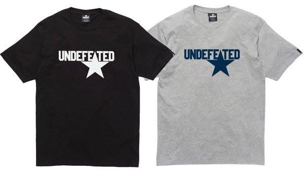 【超搶手】全新正品 2014 SS 春季 最新款 UNDEFEATED STAR SS TEE 黑 白 灰色 S M