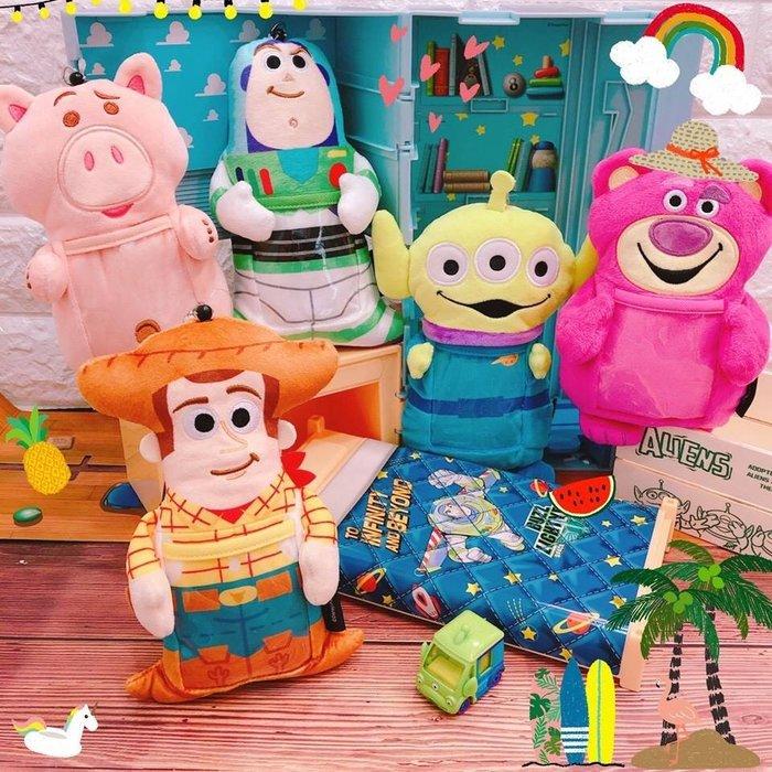 【傳說企業社】日本直送 正版授權 玩具總動員系列~我愛抱抱造型伸縮票卡套 胡迪/巴斯/三眼怪/熊抱哥/火腿豬