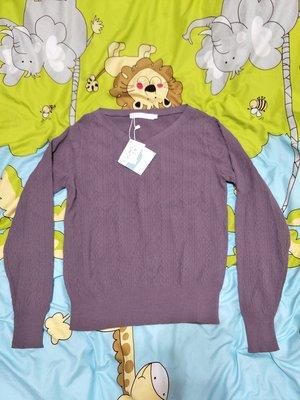 【A271】~百貨專櫃~全新獨身貴族 singlenoble 紫色針織上衣