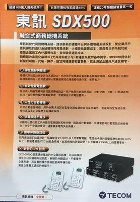 【胖胖秀OA】東訊TECOM SDX500(6外12內+4單) 融合式電話總機※含稅※