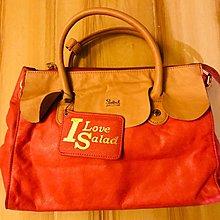 SALAD 粉紅側揹皮袋連皮革卡片套 (好少用 90%新,袋內名牌有點花痕)價錢可議。