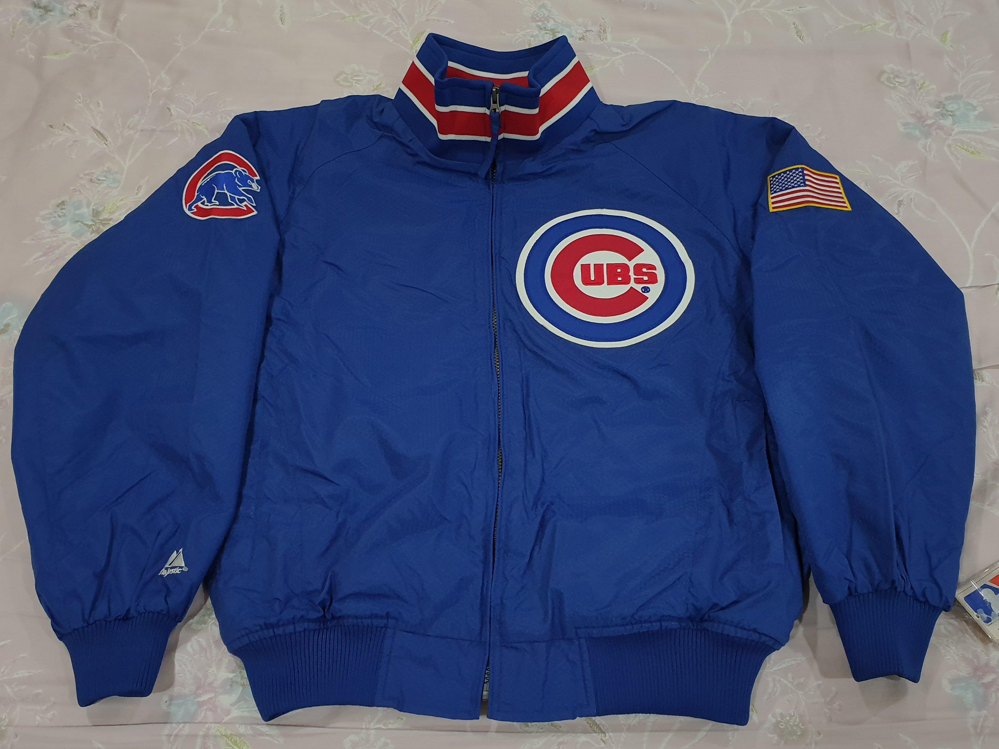 MLB Majestic Chicago Cubs 大聯盟 芝加哥 小熊隊 球員版 實戰 棒球 外套