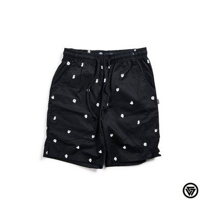 (MARVELOUS) SQUAD Latter Drawstring Shorts 字母抽繩短褲 黑色