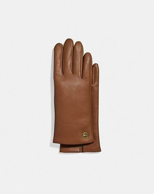 Coach Horse And Carriage Plaque Leather Tech Gloves 買2樣免郵