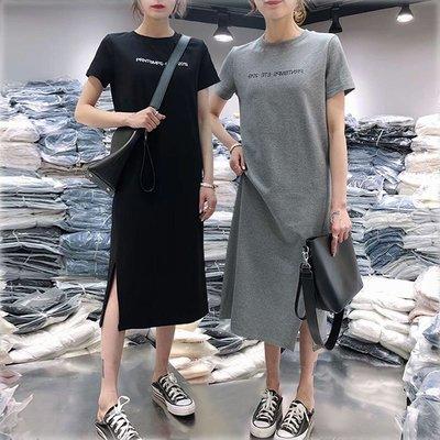 孕婦必備 哺乳衣外出夏季時尚辣媽款產后韓版寬松中長款T恤連衣裙喂奶衣潮