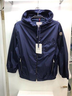 Moncler 藍色 素面 連帽 防風 風衣外套 全新正品 男裝 歐洲精品