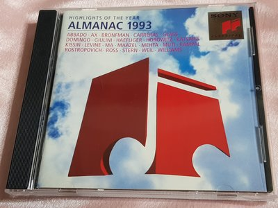 R古典(二手CD)ALMANAC 1993.HIGHLIGHTS OF THE YEAR~無ifpi