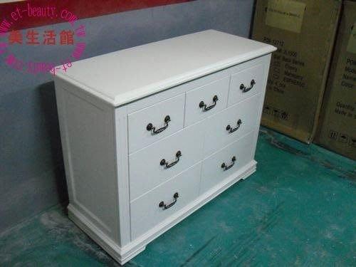 美生活館--- 全新 美式鄉村風格 --- 麗莎 全白 三斗七抽櫃/收納櫃/置物櫃--可訂製可改色