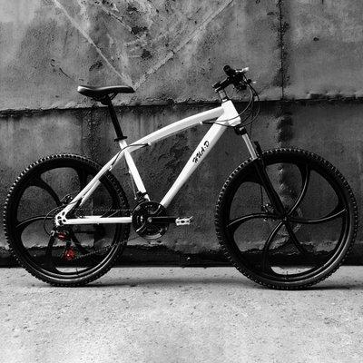 歐雅馬山地車自行車21/24速雙碟剎成人變速一體輪男女學生單車QM