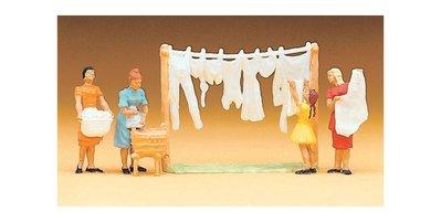 傑仲 (有發票) 博蘭 Preiser 人物組 Women hanging laundry 14050 HO