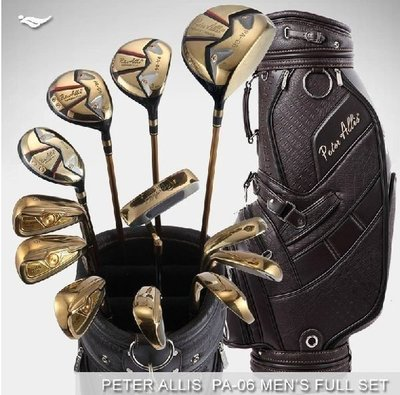 【新視界生活館】時尚PeterAllis男式高爾夫球桿 全套裝碳素golf套桿 中初學者球桿PA06 3年保修 1號木260碼