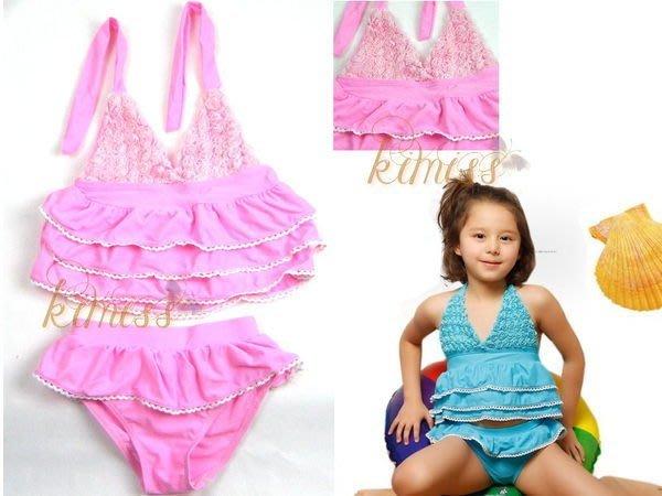 可愛女童泳衣立體花造型二件套 戲水游泳 kimiss【CP024】