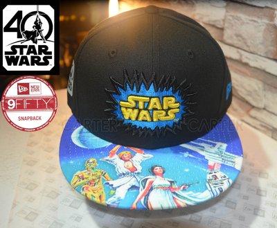 New Era Star Wars 40th Anniversary 9Fifty 星際大戰40週年帽簷復古印刷後扣帽