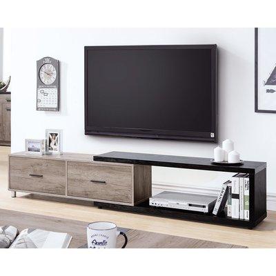 【森可家居】肯特古橡色4尺伸縮長櫃 8HY339-03 電視櫃 MIT台灣製造