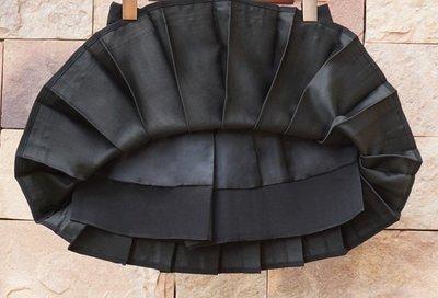 零碼出清現金價_品名: 海軍風氣質高腰百褶裙短裙半身裙三版(黑色)(L) J-13202