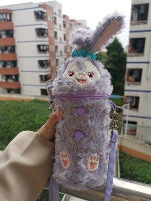 迪斯迪 星黛露 可愛兔子水瓶套 斜挎保溫杯杯套 水杯芭蕾兔 兒童水壺背帶 0234