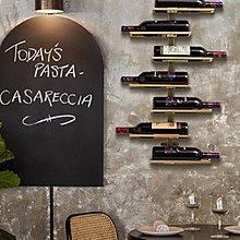 铁艺红酒架壁挂餐厅吧台墙上挂件墙壁挂饰北欧创意酒吧墙面装饰品