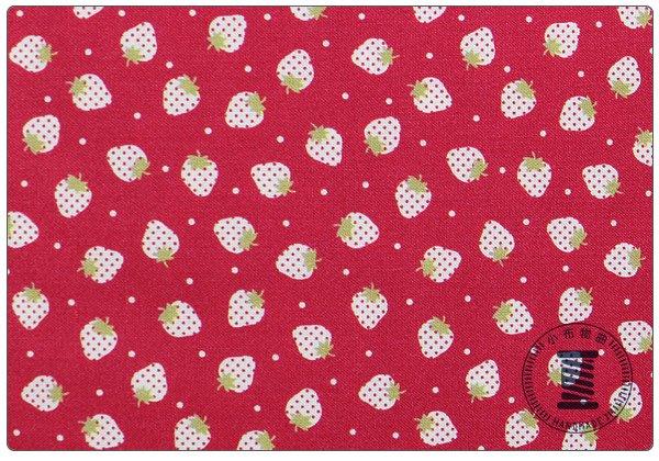 ✿小布物曲✿100%純棉布草莓系列2 窄幅110CM 韓國進口布料質感優 共3色 單價
