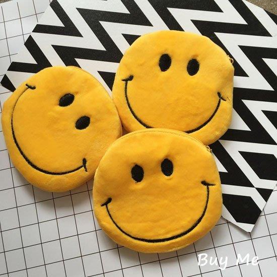 Buy Me 日本原宿zipper童趣經典可爱黄色笑臉錢包 零錢包 現+預