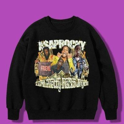 美國進口 ASAP ROCKY 饒舌傳奇 大學T 嘻哈 HIP HOP 尺寸S~2XL