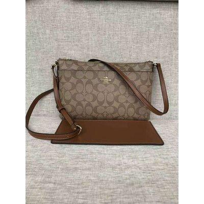 COACH 58316 全新PVC防刮皮革薄款女士肩背斜挎包 子袋可拆卸