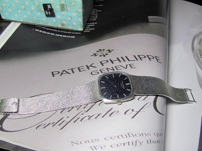 收藏家系列之17~PP  百達翡麗 18K白金 整隻原裝 手工雕刻錶面表帶 一體成型~已蒙外商公司陳經理第三次回購非常感