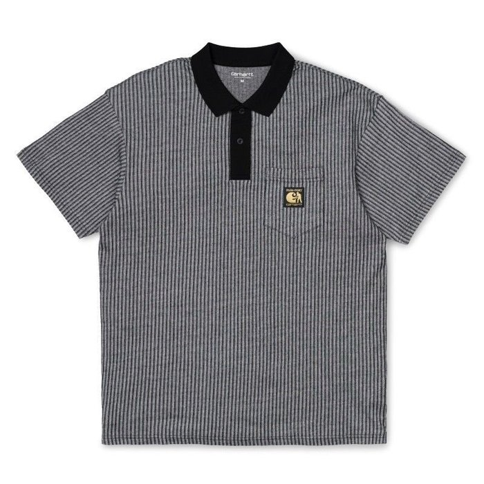 Pass~Port x Carhartt - PIN POLO SHIRT 深灰色 直條紋 POLO衫 現貨販售