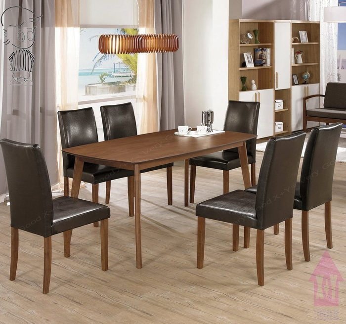 【X+Y時尚精品傢俱】現代餐桌椅系列-賽維爾 5尺餐桌不含餐椅.簡約風.橡膠木實木腳.摩登家具