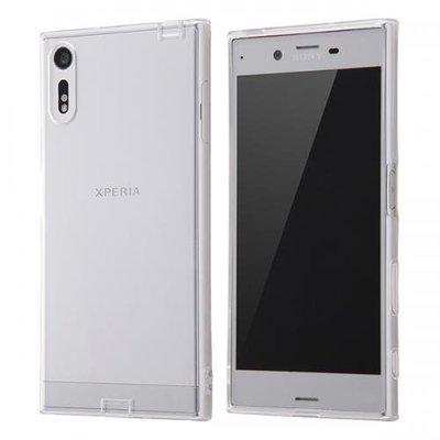尼德斯Nydus~* 日本正版 Sony Xperia XZ 手機殼 透明 清水套 TPU 軟殼 USB接頭保護