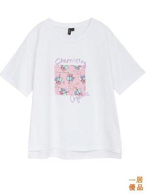 T恤女 韓版 寬鬆 印花 短袖T恤